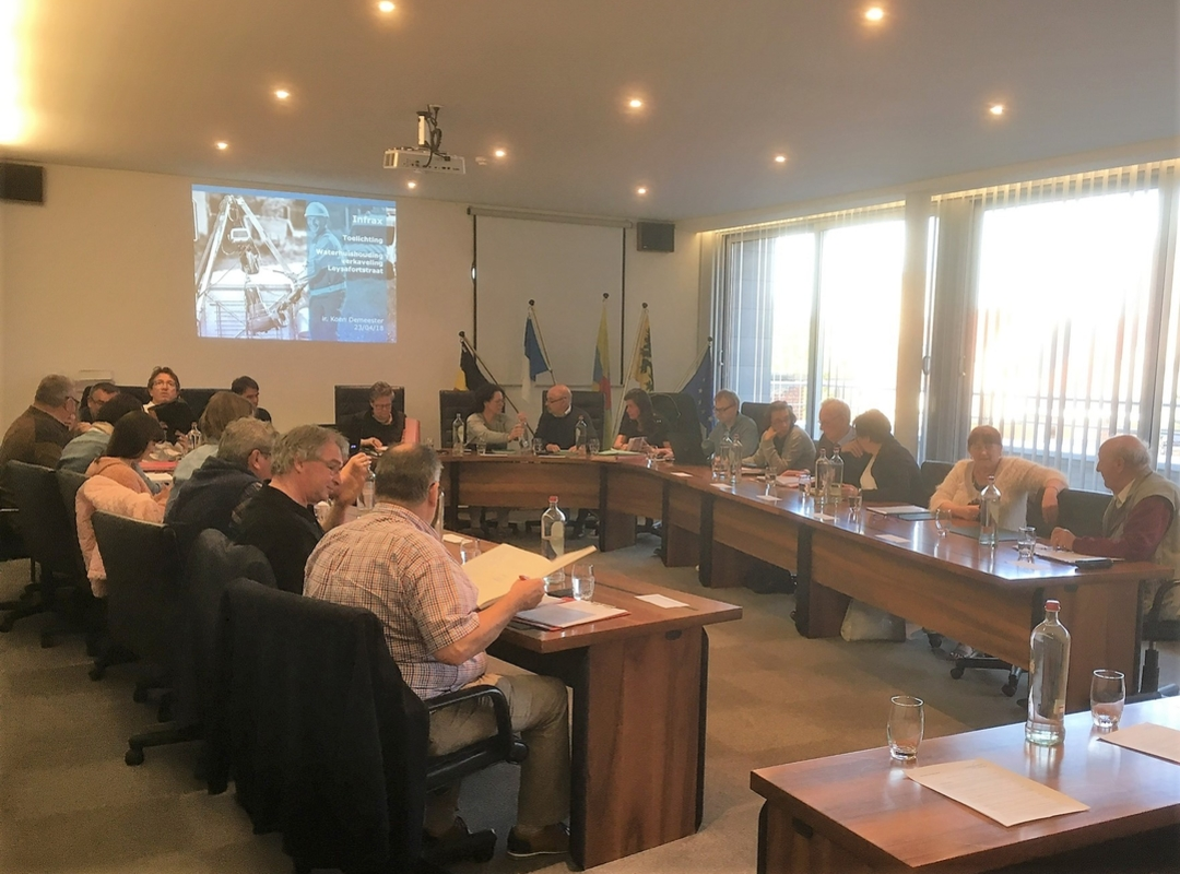 foto vlak voor de zitting, gemeenteraad van 23 april 2018